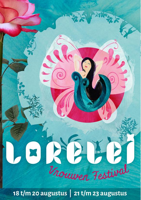 Ontwerp programmaboekje en Flyer Lorelei Festival