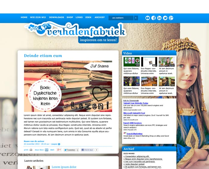 webdesign verhalenfabriek prinses