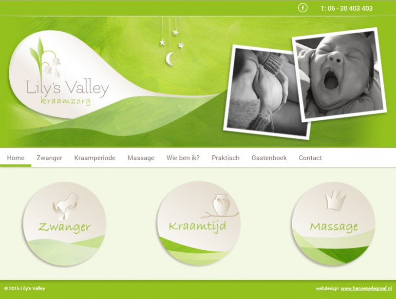 Webdesign en illustraties Lily's Valley
