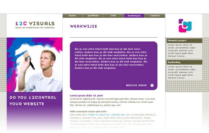 webdesign 12C visuals