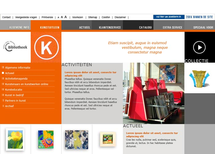 Webdesign Bieb Huizen Laren Blaricum - Kunst