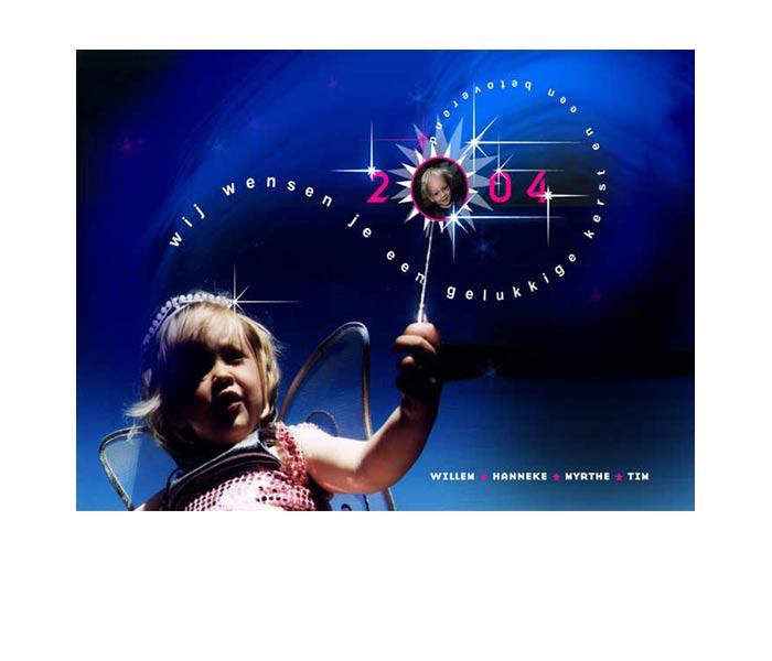 persoonlijke kerstkaart 2004