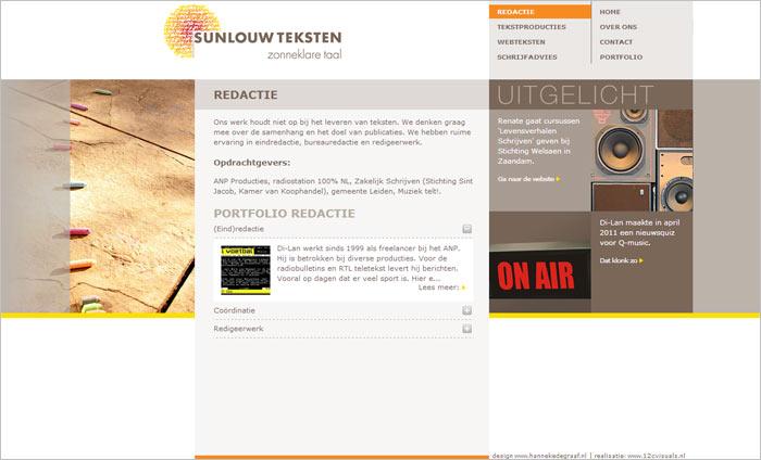 webdesign Sunlouw Teksten