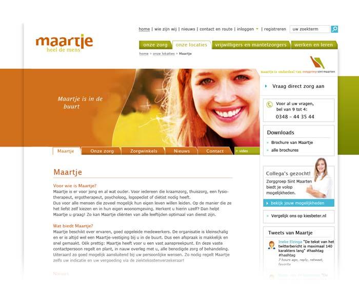 Webdesign Sint Maarten Zorggroep