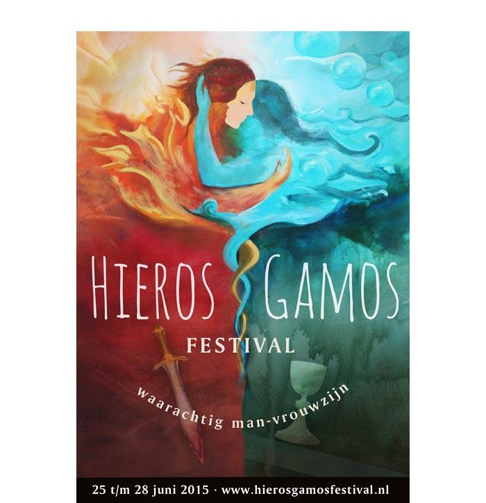 Flyerontwerp Hieros Gamos Festival