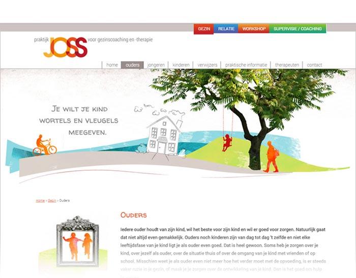 illustratie gezinscoaching webdesign