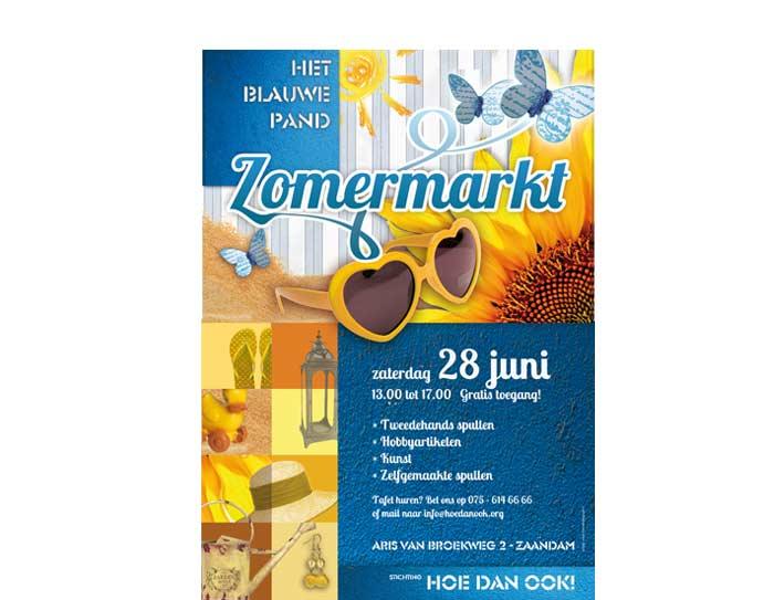 Poster- en flyerontwerp Zomermarkt