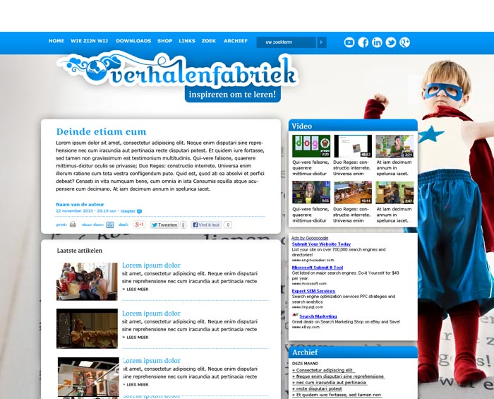 webdesign verhalenfabriek held