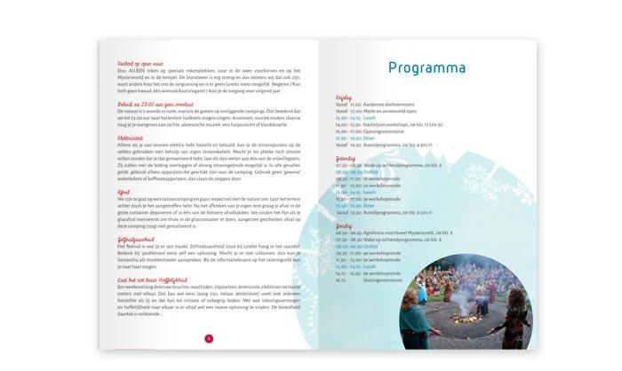 Ontwerp programmaboekje Lorelei Festival
