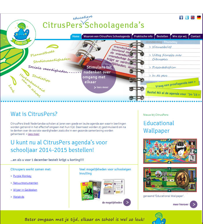 Homepage CitrusPers Schoolagenda's
