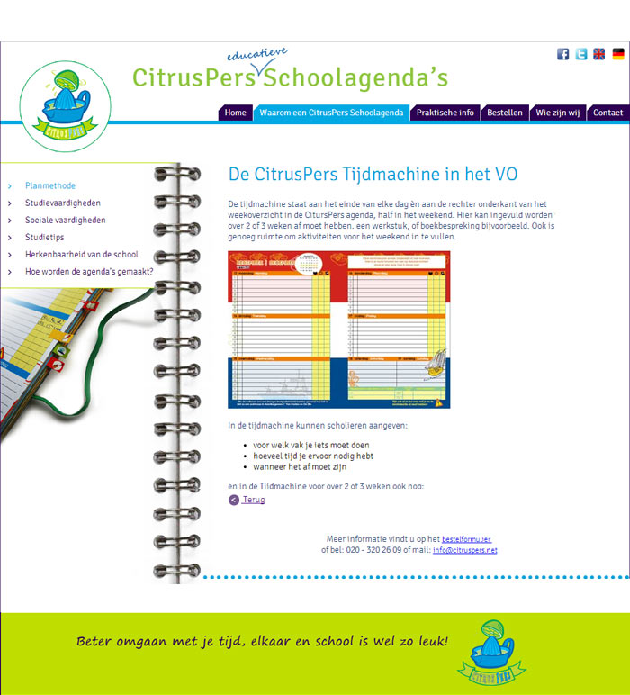 Webdesign CitrusPers Schoolagenda's