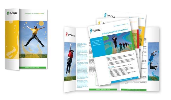 Brochure ontwerp Iteraz verandermanagement