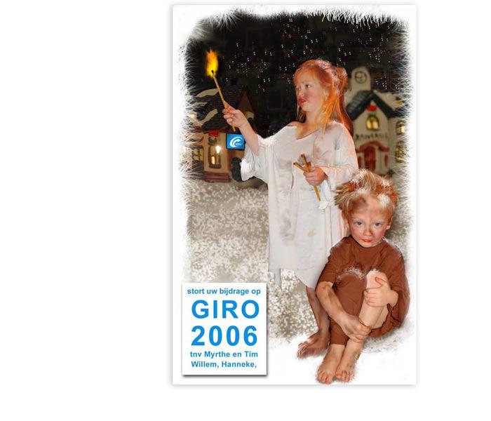 unieke kerstkaart 2006