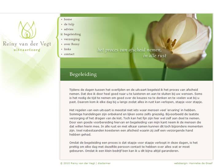 Webdesign Uitvaartzorg vd Vegt
