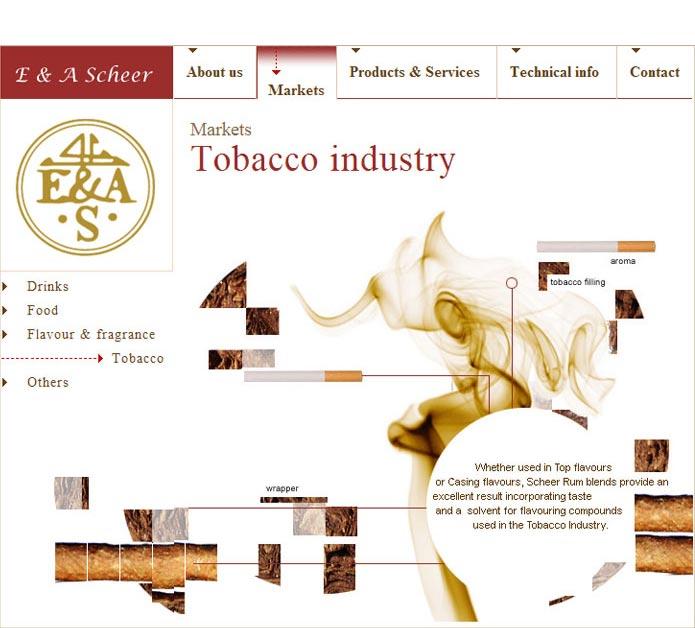 rum als ingredient voor tabac