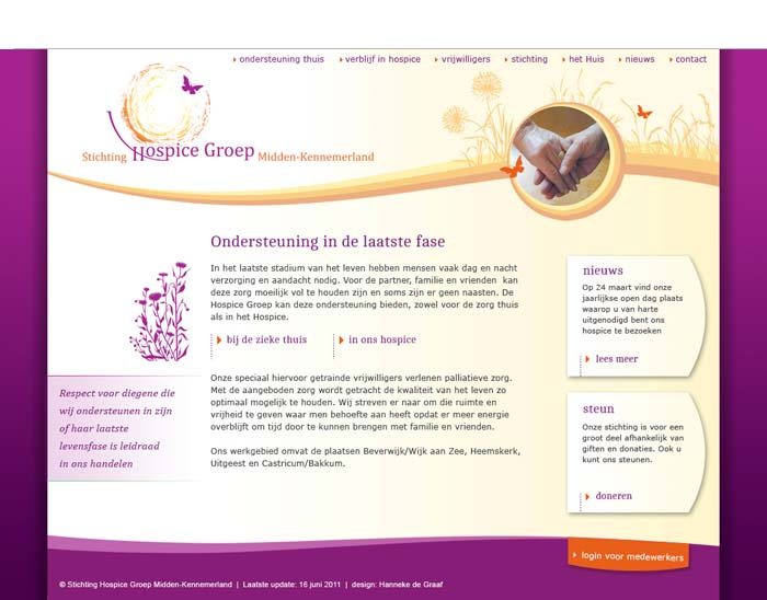 Webdesign Hospice Beverwijk
